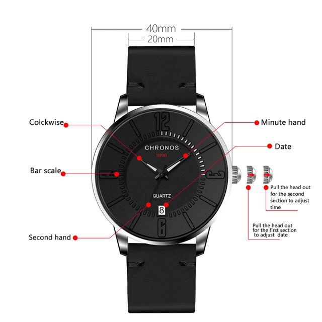 ff1f572e2fad07 Chronos mężczyzn zegarki zegarki sportowe dla mężczyzn casual quartz ...