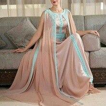 Vintage Saudi-arabien Kaftan Abendkleider weg von der schulter lange abendkleid abendkleid bodenlangen chiffon vestido de festa