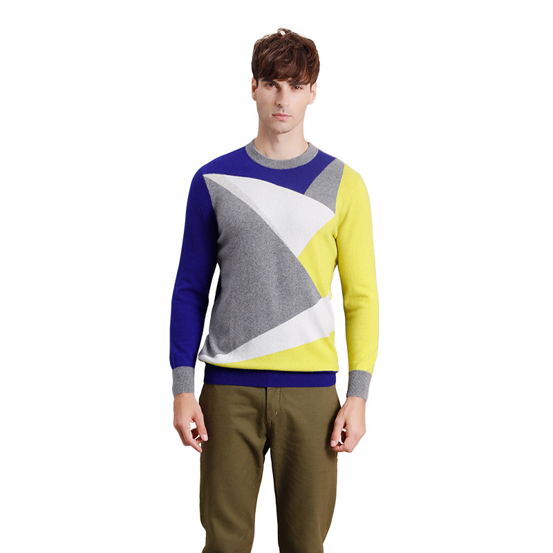 ZHILI Men's Autumn Winter Pullover Casual Knitted Cashmere Sweater