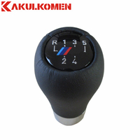 5 6 Speed Real Leather Gear Shift Knob Handle Knob With M Logo For BMW E90