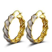WQQCR Простые Модные золотые и серебряные геометрические большие круглые серьги женские модные большие полые серьги-подвески, ювелирные изделия