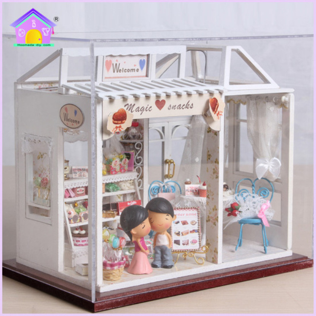 Diy Cake Shop Small And Medium Sized Wooden Doll House Furniture Toy
