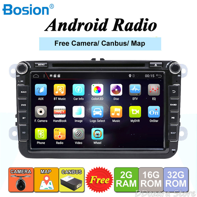 Car Multimedia for Volkswagen GOLF CAR DVD for PASSAT B6 B5 POLO CC TIGUAN OCTAVIA CAR DVD ANDROID WIFI 8 inch Android 7.1
