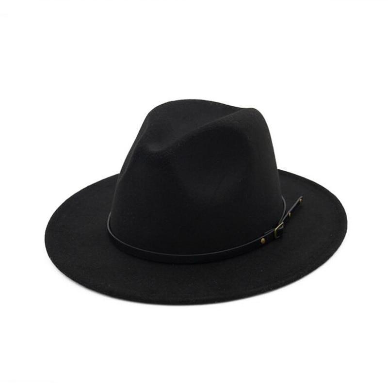 c441ac71c65 2019 FS British Wide Brim Hats Felt Classic Trilby Jazz Hat For ...