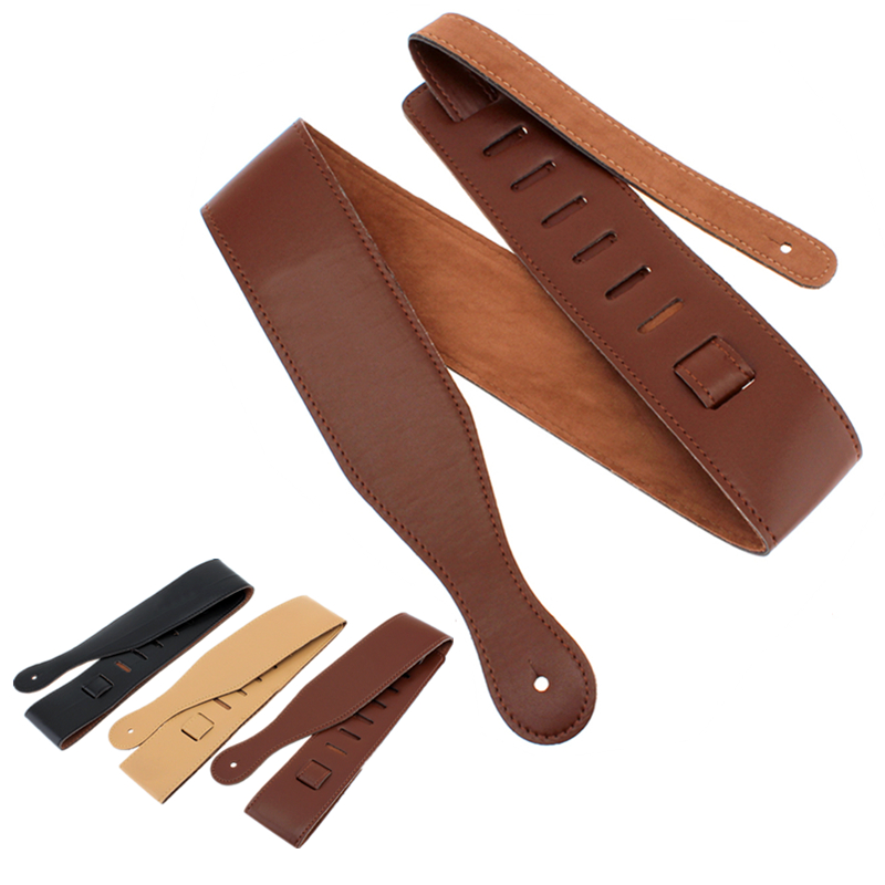 Adjustable Guitar Strap Belt PU Leather Acoustic Folk Electric Bass Guitar Belt Musical Instruments Parts & Accessories nylon guitar strap adjustable bass acoustic electric guitar strap belt with leather ends