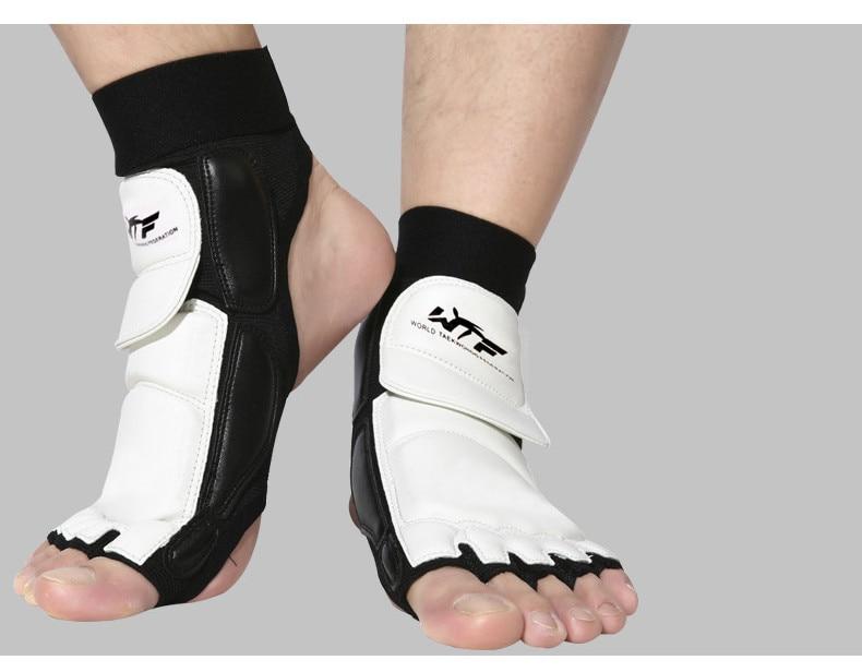 Karate Sparring Taekwondo Foot Guard Protective Gear Set Half Boxing Gloves
