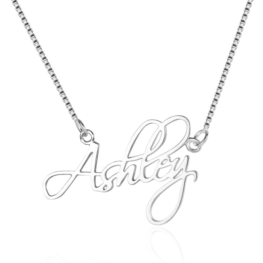 Náhrdelník Přívěsek 925 Sterling Silver Tiny Vlastní Šperky s jakýmkoliv jménem podle Vlastní přizpůsobené šperky pro ženy (NE101643)  t