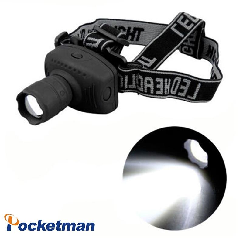 1800 Lumens LED-forlygte Kraftig lommelygte Frontal Lantern Zoombar forlygte Lommelygte til cykel til camping Jagt Fiske