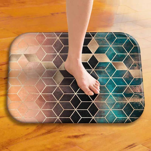 Geometric Colorful Anti-Slip Suede Doormat 40*60cm