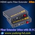 Бесплатная Доставка DHL HDMI Оптического Волокна Передачи 20 КМ HDMI волоконно-оптические Extender 20 Км с ИК-и 1080 P волокна HDMI Extender (FC)