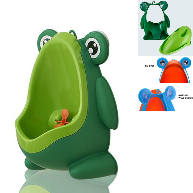 One Orange Peel Device AS GIFT Green LianLe Frog-shaped Children Potty Toilet Training Kids Urinal for Boys Pee Trainer Bathroom