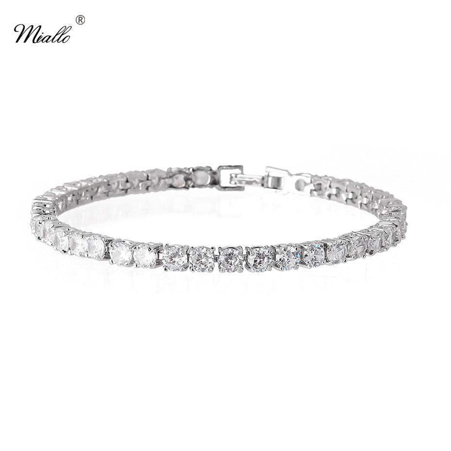 Miallo Newest Fashion AAA Cubic Zircon Chain & Link Bracelets for Women Simple Summer Jewelry Bracelets for Ladies
