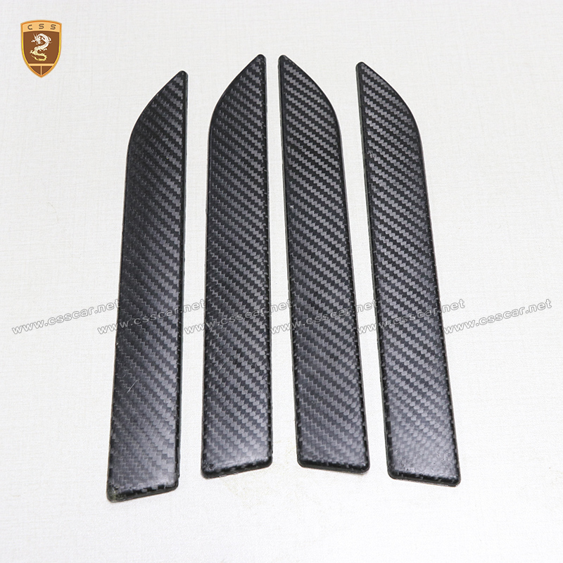 4pcs Carbon Fiber Door Handles Covers For Tesla Model X 2016 2017 2018 Add On Style Car  ...