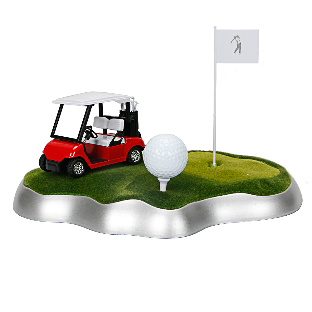 Golf Parts Model Golf Ball And Toy Car Golf Gifts