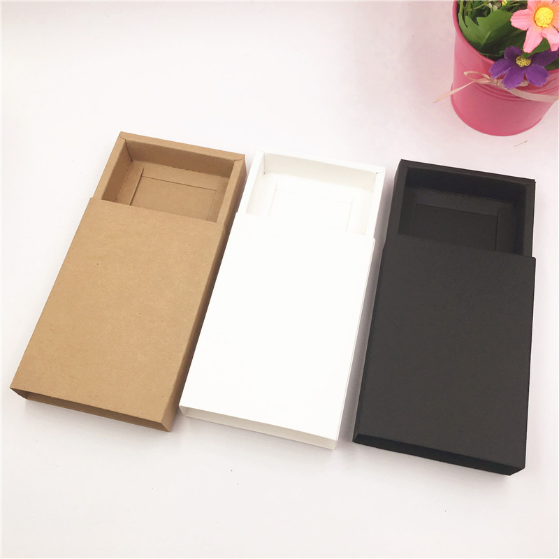 20 Pcs Drawer Gift Boxes Kraft Brown Handmade Soap Packaging Boxes Party Storage Box For Jewerly/Candy/Handicraft