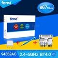 Fenvi wlan + bt 4.0 aw-ce123h azurewave broadcom bcm94352hmb ac sem fio 867 m 802.11ac wi-fi bluetooth 4.0 pci-e card + chave de fenda