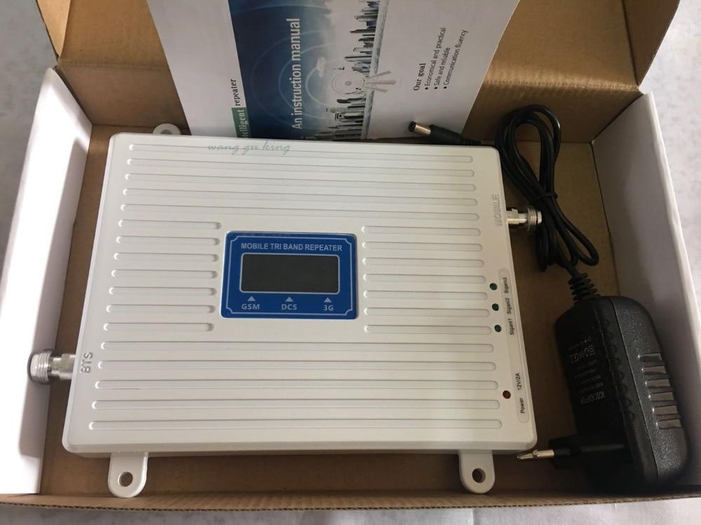 Tri Band Mobiele 2G 3G 4G GSM 900 DCS 1800 3G WCDMA 2100 MHz Mobiele Telefoon mobiele Netwerk Signaal Booster Versterker Signaal Repeater - 2
