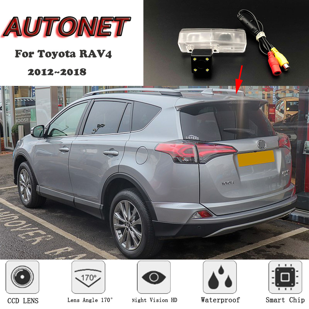 AUTONET Backup Rear View Camera For Toyota RAV4 2013 2014 2015 2016 2017 2018 Night Vision/license Plate Camera/parking Camera