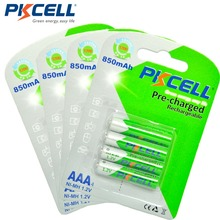 Pilas recargables AAA de 1,2 V, Ni MH, 850mAh, LSD, duraderas, precargadas, 3A, 4 tarjetas = 16 Uds.