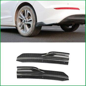 Mobil Styling untuk Hyundai Elantra 2016 2017 ABS Bumper Belakang Tepi Sudut Kedua Sisi Pelindung Plat Bibir Penutup Stiker Trim strip