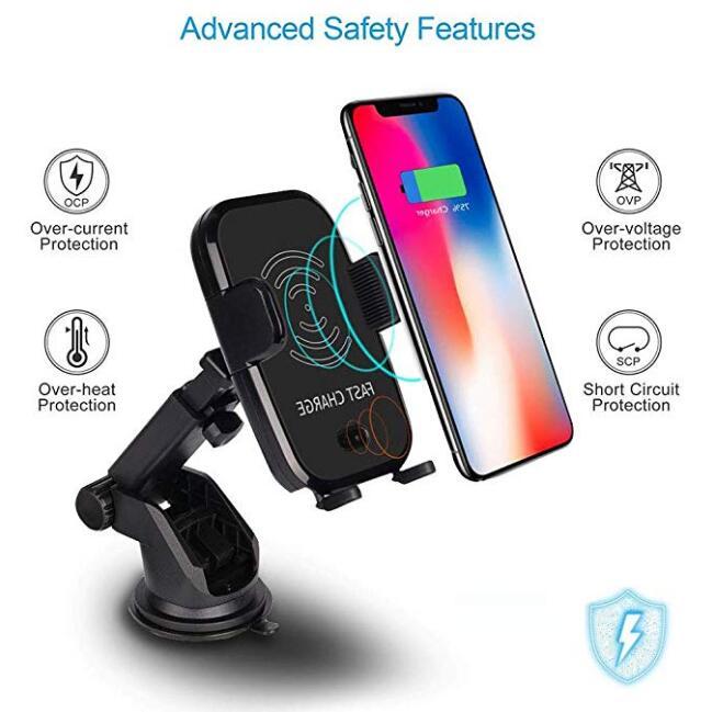 Qi Schnelle Drahtlose Auto Ladegerät automatische sensor Auto Halterung Air Vent-Halter Cradle für iPhone 8/8 Plus /X Samsung S9 S8 S7