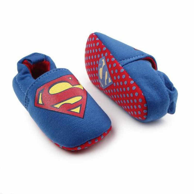 Marvel Superman Baby Shoes 2019 Spring Autumn New Infant Toddle 0-3Y Baby Boys Girls Casual Cartoon Fashion Baby First Walker