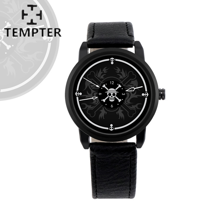 Men Anime game Watchs Leather Quartz-watch Waterproof Watches Pirate Skull Style Watches Reloj Homber Relogio Masculino Shipping mens watch top luxury brand fashion hollow clock male casual sport wristwatch men pirate skull style quartz watch reloj homber