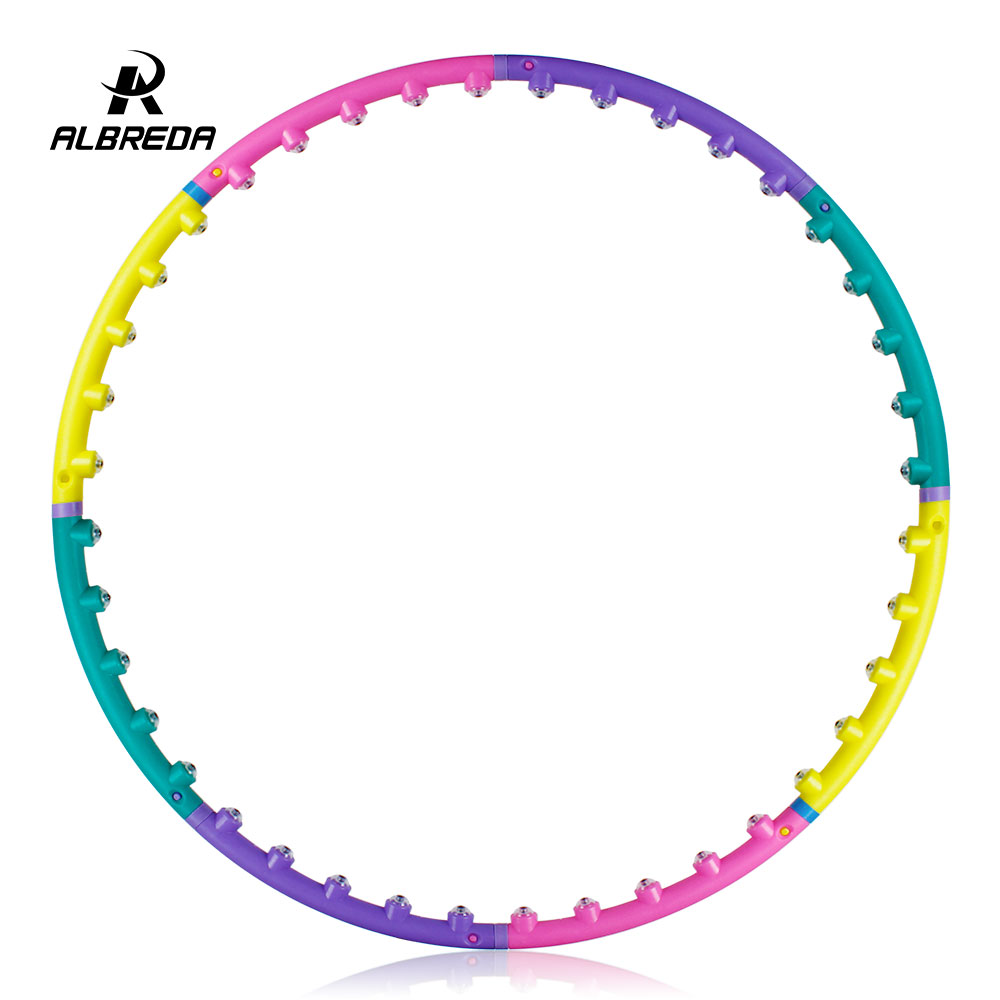 ALBREDA New arrival magnet fitness hula hoop sport massage hoops hula-hoop for children kid bodybuilding for women Free shipping
