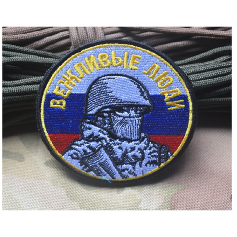 3D embroidery patches armband loops and hook Russian warrior/Russian soldier patches badges for clothing or hat or bag patch