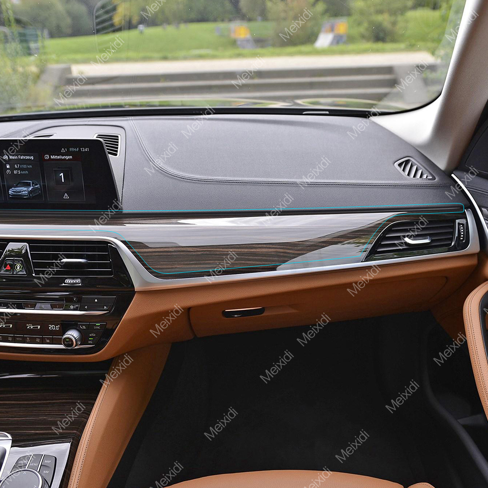 Car Styling Car Interior Central Control Panel Kit Protective Film TPU Self Healing Sticker For BMW 5 series G30 G31 Accessories