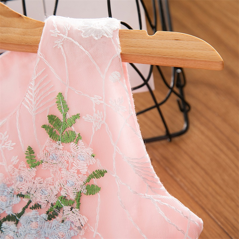 Cute Girls Dress 2019 New Summer Girls Clothes Flower Princess Dress Children Summer Clothes Baby Girls Dress Casual Wear 3 8Y