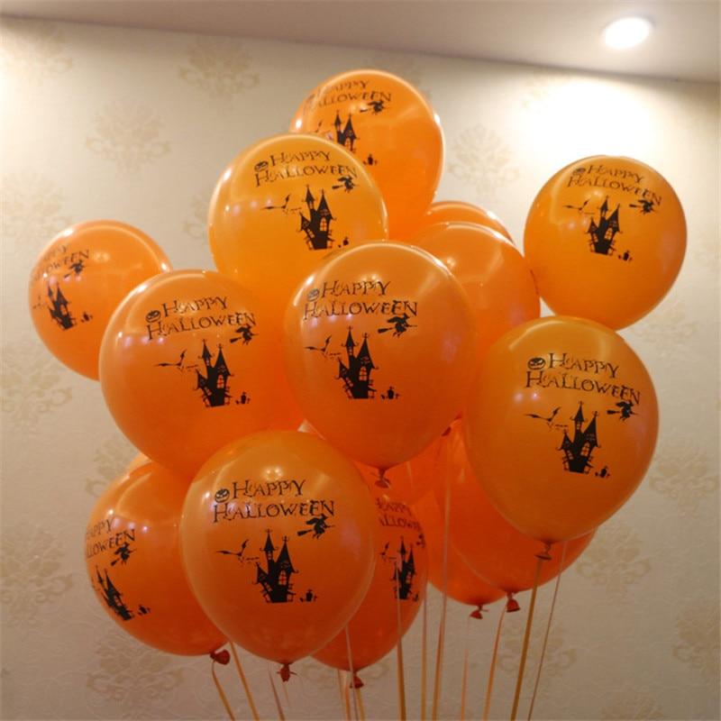 Omilut 100pcs Halloween Balloon Happy Halloween Latex