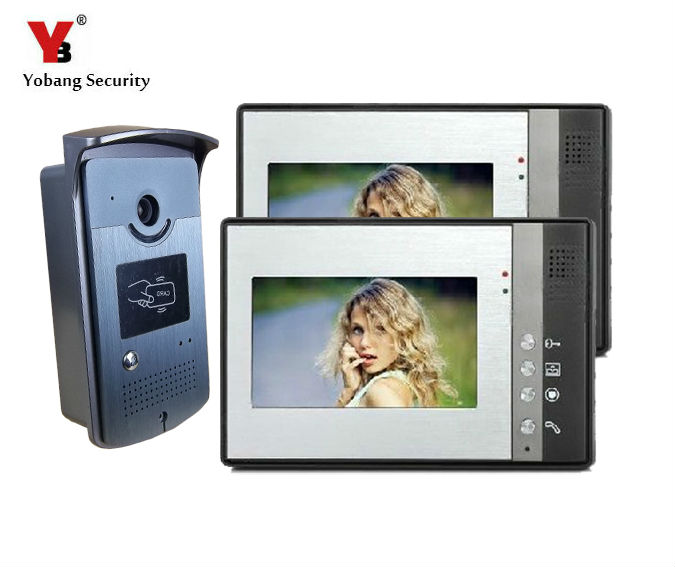 Yobang Security 7 inch Intercom Video Doorbell System for Apartment Office Rainproof Camera Access Control System Doorphone