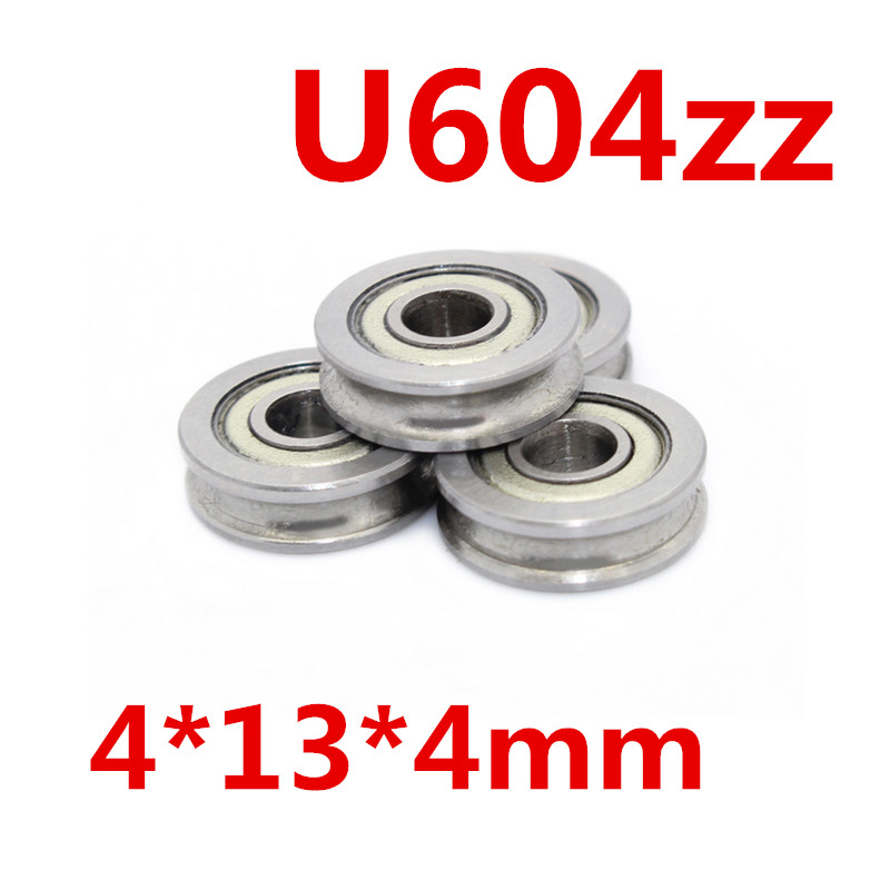 5PCS 4mm Walking guide rail groove U groove 604UU 4*13*4mm 3D printer dedicated feeding roller bearings U604 SZU4-13 U604ZZ 1 piece bu3328 6 6 33 27 5 29 5 mm z25 guide rail u groove plastic roller embedded dual bearing