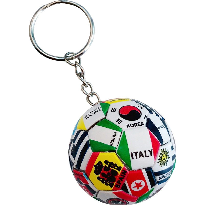 New World Flag Football Keychain Country Soccer Club Fans Keyring Car Key Chains Souvenir Bag Pendant Accessories Gifts K2114