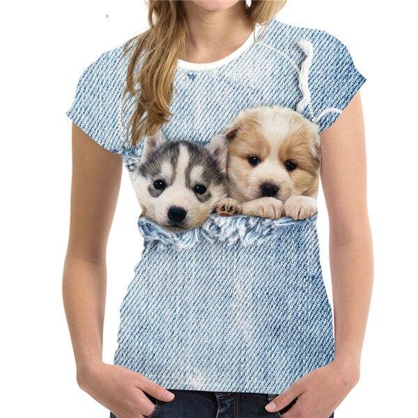 NoisyDesigns джинсы Ca футболка Для женщин футболка модные летние футболка для Для женщин s Camisa 3d кошка принт Забавный Brasil топы и футболки Wonder