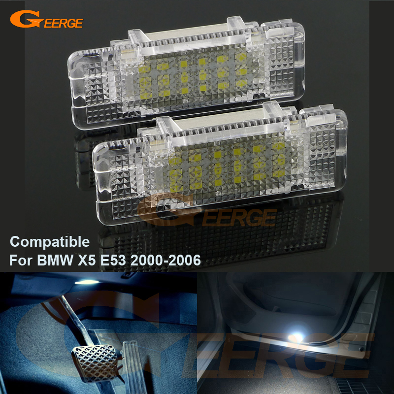 For BMW X5 E53 2000-2006 Excellent Ultra bright 3528 Epistar LED Door Courtesy Light Footwell lamp No OBC error