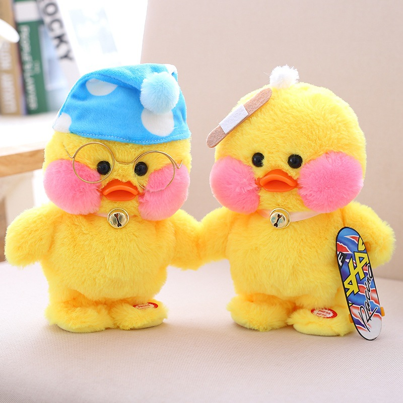 Sound Control Robot Duck Toy Walk talk Electronic Pets Toy With Music Interactive Plush Pet Duck Toys For Children Birthday Gift robot unicorn sound control interactive unicorn electronic toys plush pet unicorn toy walk talk toys for children birthday gifts