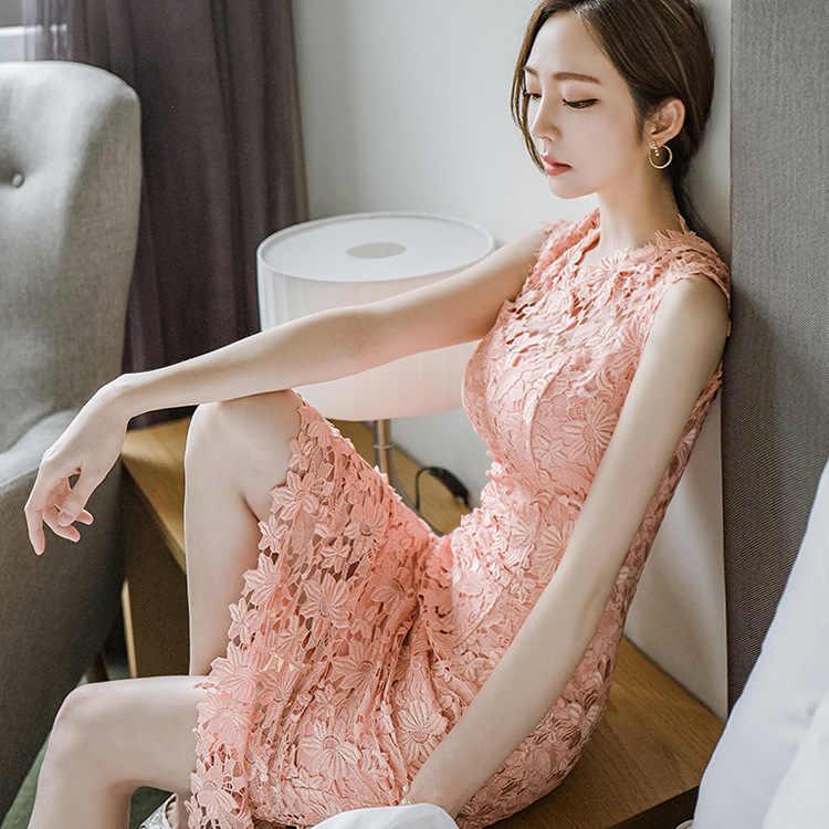 Богемные женские новые платья с вырезами, модные платья, пляжное платье с глубоким v-образным вырезом для девочек, 2018 кружевное длинное платье выше колена, размеры s, m, l, xl, розовый цвет