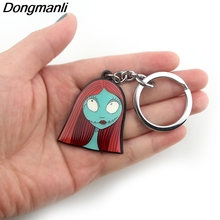 P3880 Dongmanli The Nightmare Before Christmas Key Holder Cute Enamel Metal Pendant Car Keychain For Rings Gifts