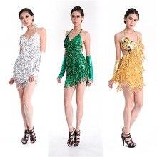 Vestido de dança latina para mulheres, oferta especial, vestido de dança latina