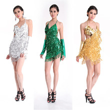 Vestito Da Ballo latino Offerta Speciale Donne Latine Vestito Da Ballo Latino Costume di Ballo Abiti Salsa Latino Abito Frangia