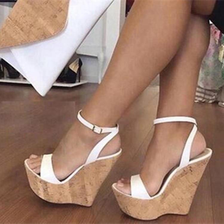 Women Platform Sandals Sexy Wedges High