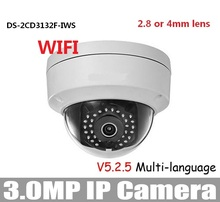 HIKV * SION DS-2CD3132F-IWS 3MP WIFI de La Cámara 2.8mm 4mm 6mm 3MP Mini Domo de Soporte PoE 5.25 Versión