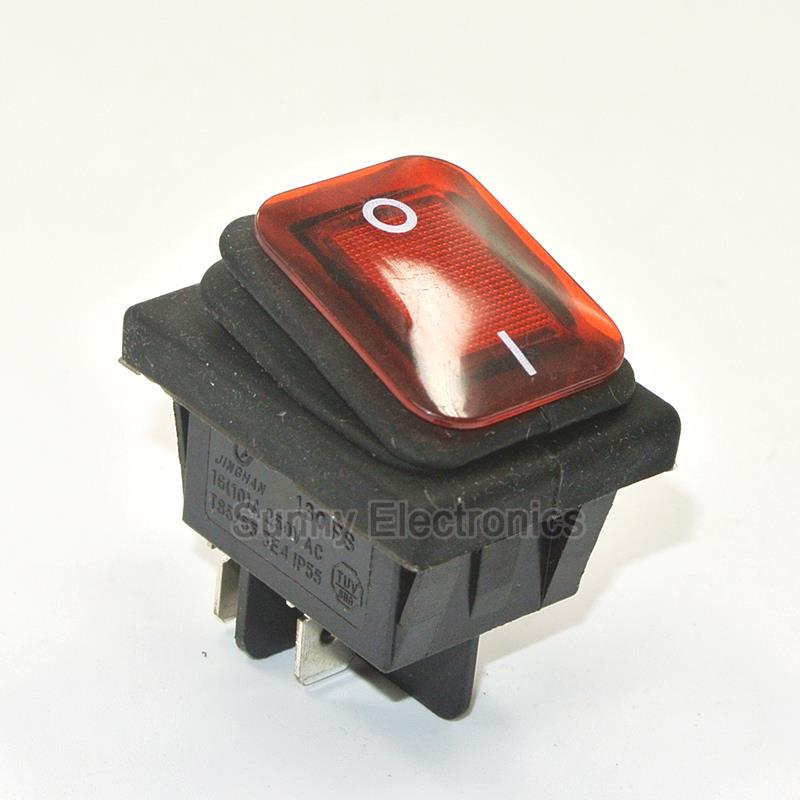 50 x RED Good Quality RLEIL RL2 (P) Waterproof IP65 ON/OFF  Rocker Switch  Boat Car Rocker Switch on the open shanghai wing star ship switch kcd6 21n f ip65 waterproof switch 6a 4 foot red 220v