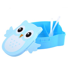 Cartoon Owl 900ml Lunch Boxs Bento Food Fruit Storage Container Portable Dinner Box Food-Safe Food Picnic Container Kids Gifts