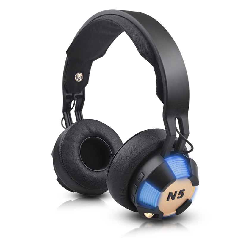 ihens5 N5 Wireless Bluetooth Headphone Best casque HIFI headset support TF Card handsfree with mic LED LIGHT for Computer  Gamer hlton portable 2 in 1 universal wireless bluetooth stereo headphone with mic support tf card headset for smartphone computer