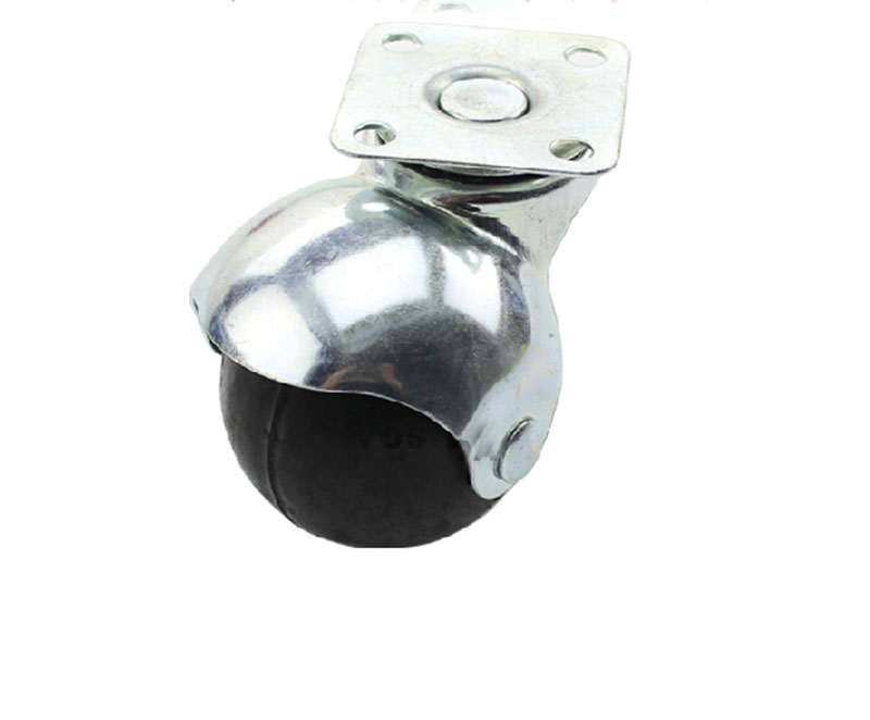 2-inch thick sofa chair caster wheel spherical rubber furniture casters KF519 1 inch 2 rubber caster wheels mute round furniture wheel