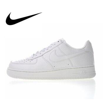 low priced dda40 684ce Original auténtico Nike Air Force 1 07 LV8 blanco cocodrilo de los hombres  zapatos de skate Zapatos de deporte al aire libre zapatillas de deporte  2018 ...