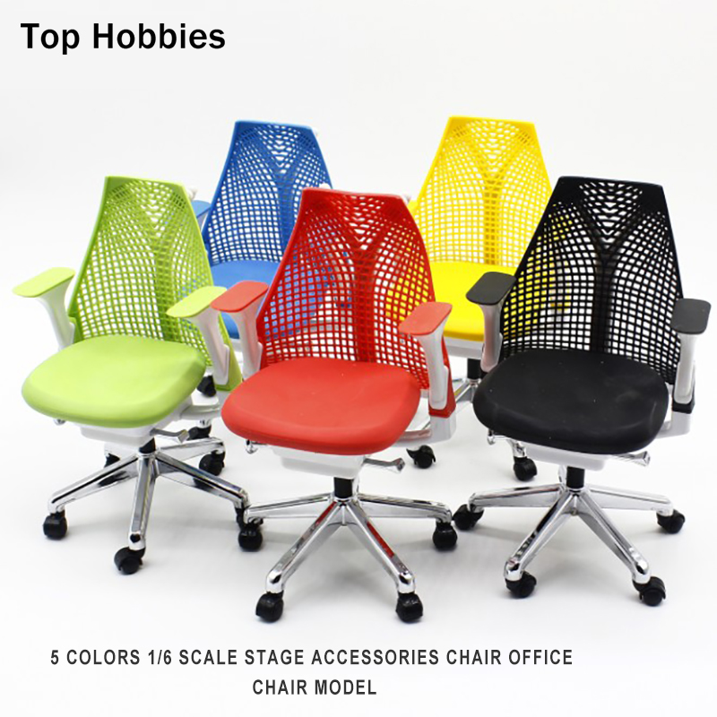 5 Colors 1/6 Scale Stage Accessories Scene Chair Props Office Model for 12''Phicen Action Figure Can Rotated With Shock Plastic 1 6 scale rifle gun model for 12 inches action figure accessories collections x80028 m700pss x80026 psg1